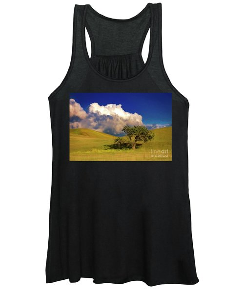 Lone Tree With Storm Clouds Women's Tank Top