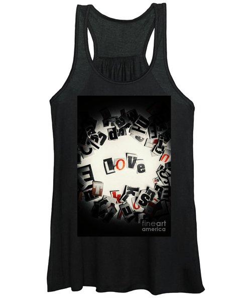 Love In Letters Women's Tank Top