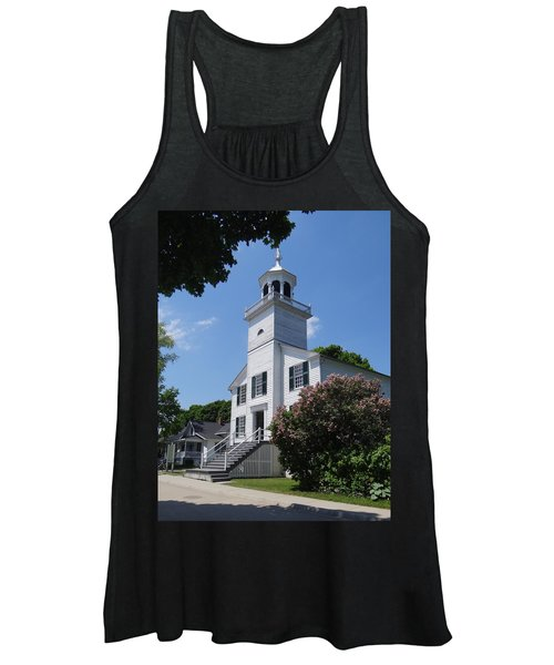 Mackinac Island Mission Church Women's Tank Top