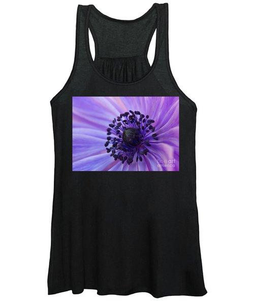 Macro Of Lavender Purple Anemone Women's Tank Top