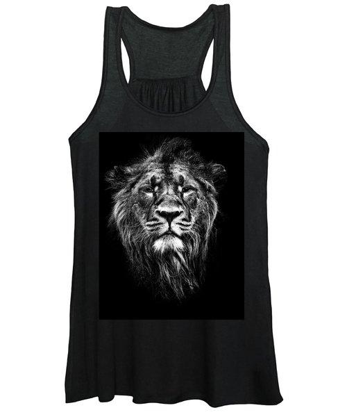 Male Asiatic Lion Women's Tank Top