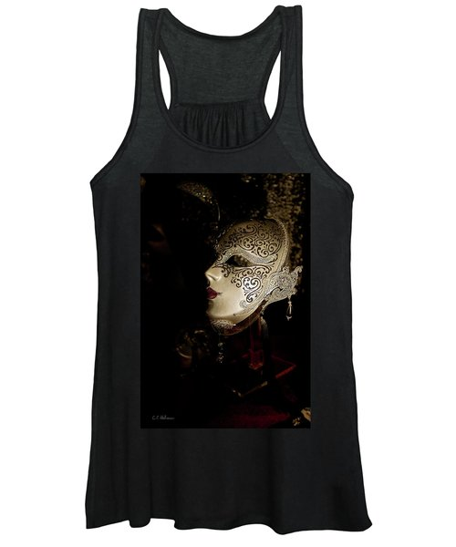 Mardi Gras Mask Women's Tank Top