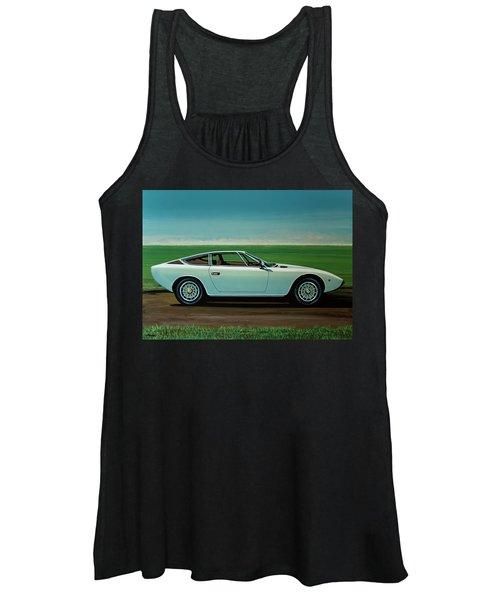 Maserati Khamsin 1974 Painting Women's Tank Top