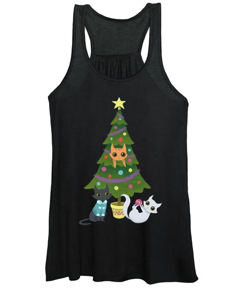 Meowy Christmas Women's Tank Top