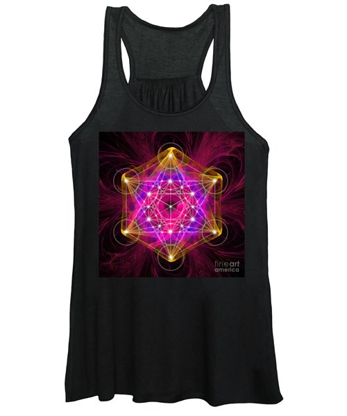 Metatron's Cube With Flower Of Life Women's Tank Top