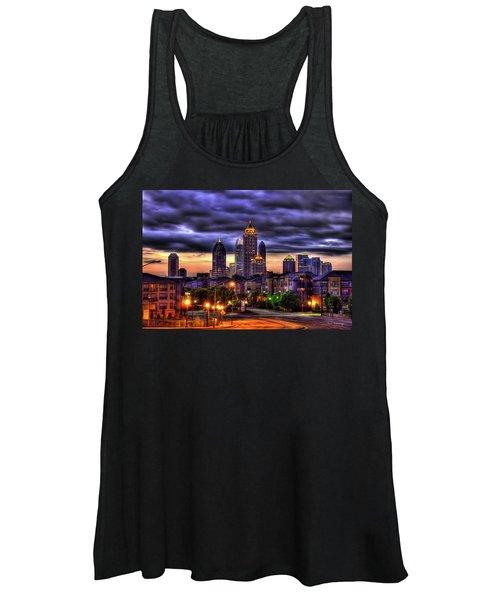 Midtown Atlanta Towers Over Atlantic Commons Art Women's Tank Top
