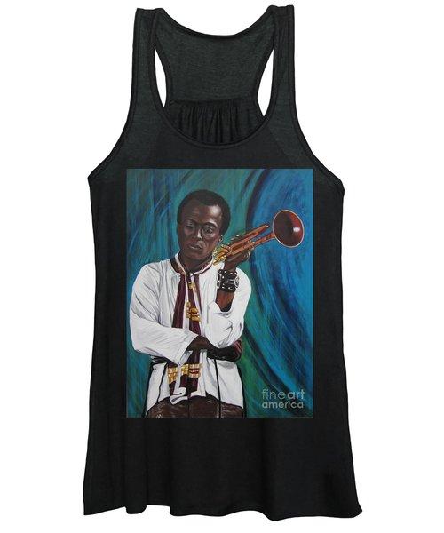Blaa Kattproduksjoner     Miles-in A Really Cool White Shirt Women's Tank Top