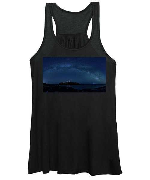 Milky Way Over Nubble Women's Tank Top