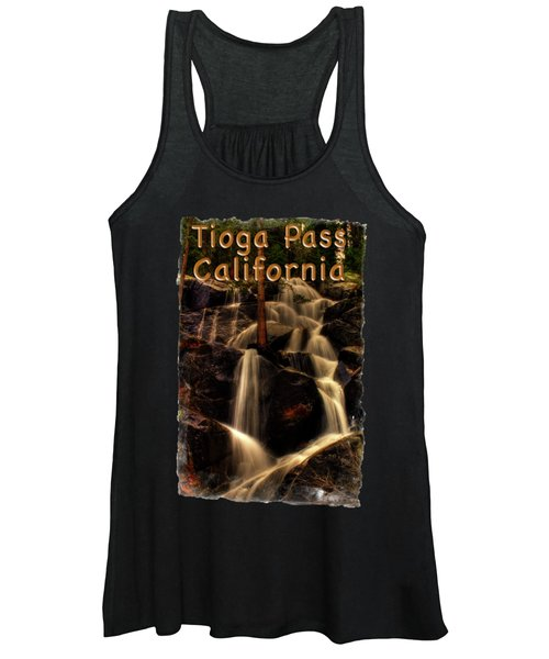 Quaking Aspen Falls Along Tioga Pass  Women's Tank Top