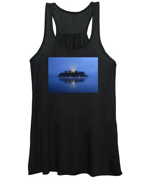Misty Morning Lake Bled Slovenia Women's Tank Top