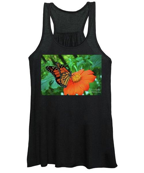 Monarch On Mexican Sunflower Women's Tank Top