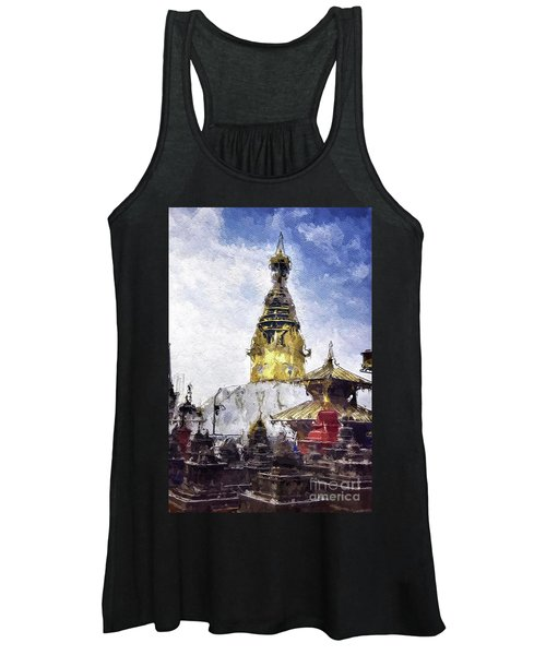 Monkey Temple, Nepal Women's Tank Top