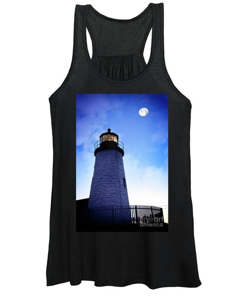 Moon Over Lighthouse Women's Tank Top