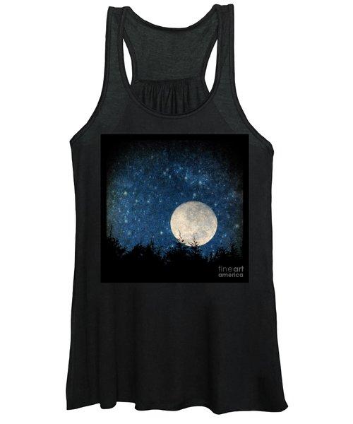 Moon, Tree And Stars Women's Tank Top