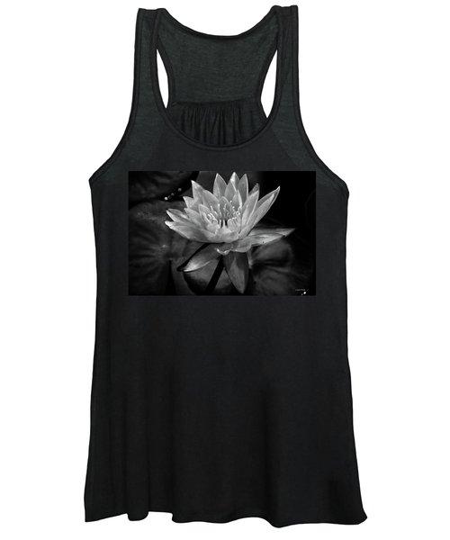 Moonlit Water Lily Bw Women's Tank Top