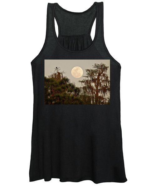 Moonrise Over Southern Pines Women's Tank Top