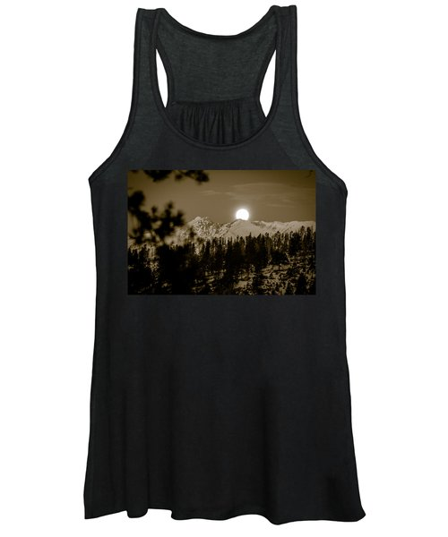 moonset over the Rockies Women's Tank Top