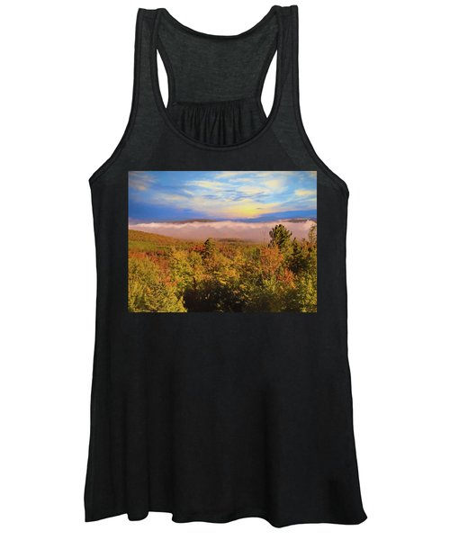 Morning Autumn Landscape Northern New Hampshire Women's Tank Top