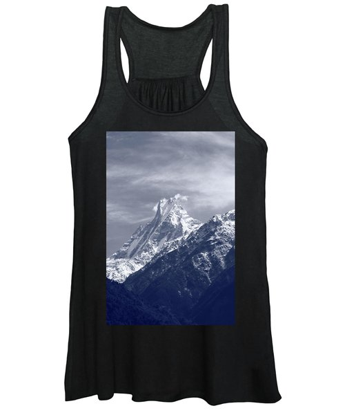 Mount Machapuchare, The Himalayas, Nepal Women's Tank Top