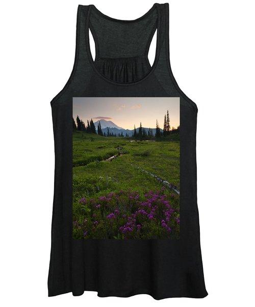 Mountain Heather Sunset Women's Tank Top