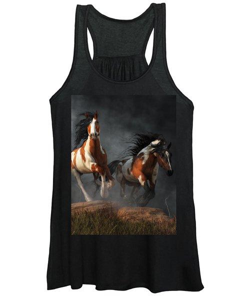 Mustangs Of The Storm Women's Tank Top