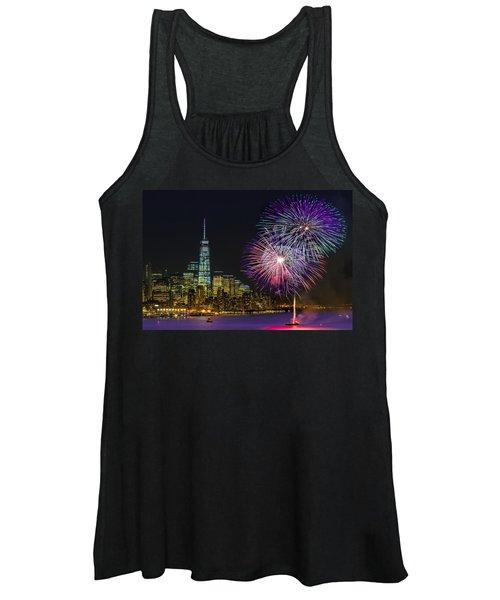 New York City Summer Fireworks Women's Tank Top