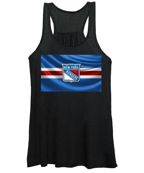 New York Rangers - 3d Badge Over Flag Women's Tank Top