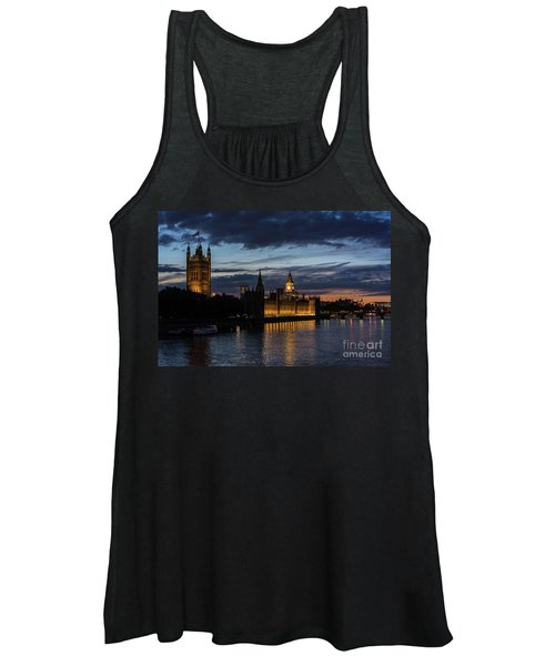 Night Parliament And Big Ben Women's Tank Top