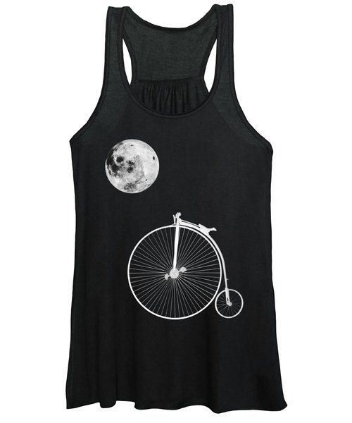 Night Rider - Penny Farthing And Moon Women's Tank Top