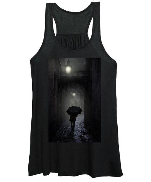 Night Walk In The Rain Women's Tank Top