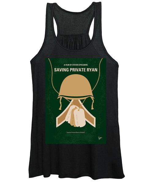No520 My Saving Private Ryan Minimal Movie Poster Women's Tank Top