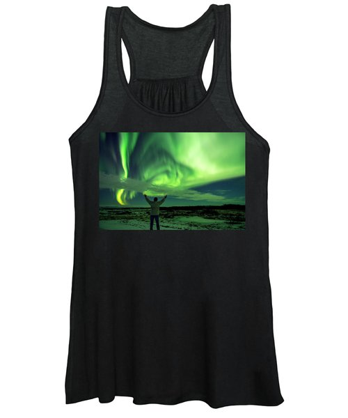 Northern Light In Western Iceland Women's Tank Top