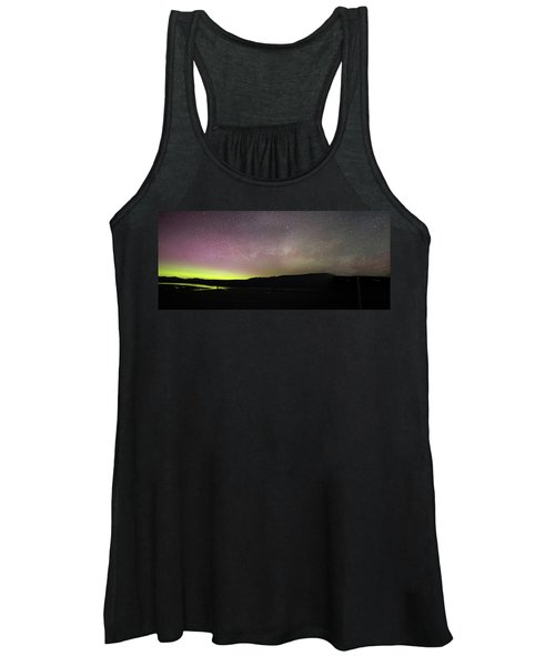 Northern Lights And Milky Way In Yellowstone Np Women's Tank Top