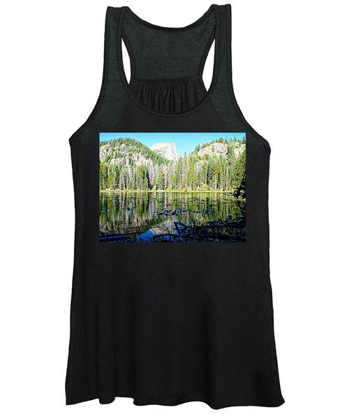 Nymph Lake And Flattop Mountain Women's Tank Top