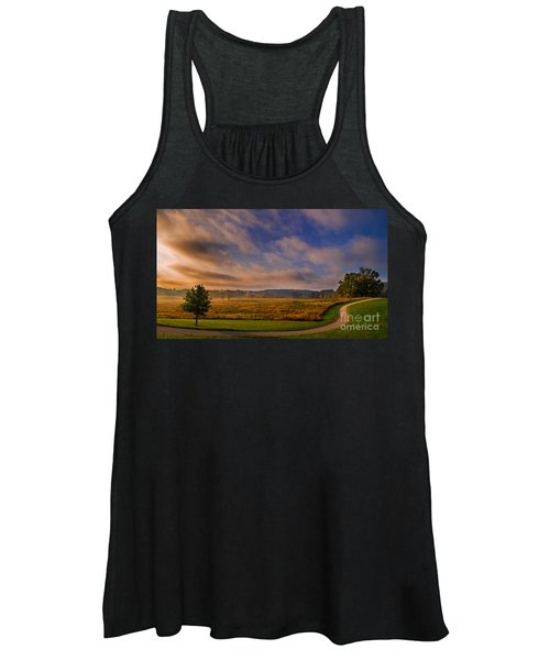 October Morning At Valley Forge Women's Tank Top