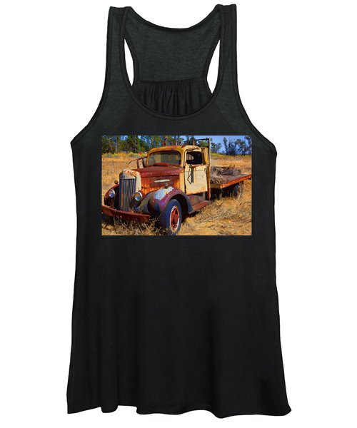 Old Rusting Flatbed Truck Women's Tank Top