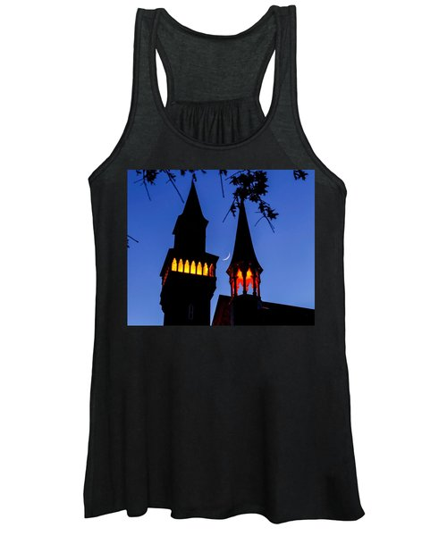 Old Town Hall Crescent Moon Women's Tank Top