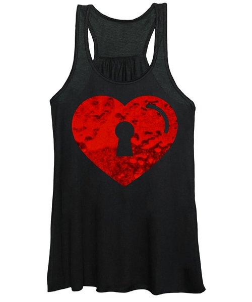 One Heart One Key Women's Tank Top