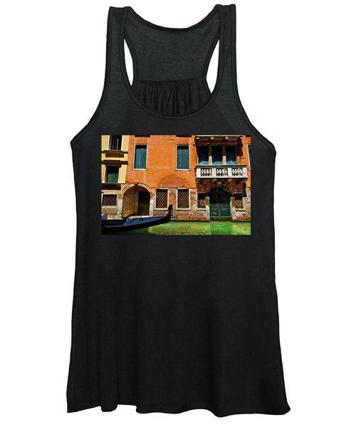 Orange Building And Gondola Women's Tank Top