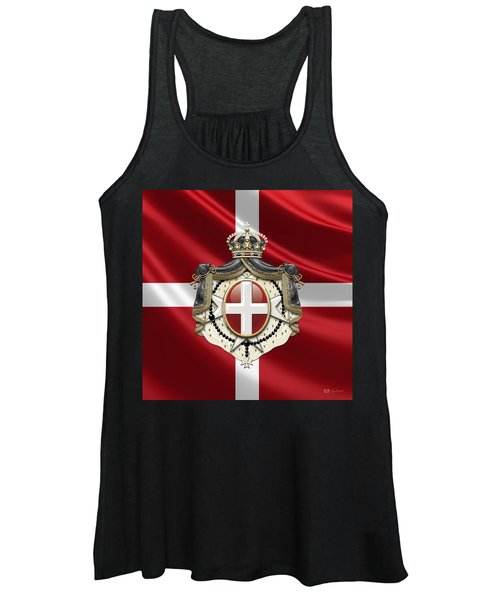 Order Of Malta Coat Of Arms Over Flag Women's Tank Top