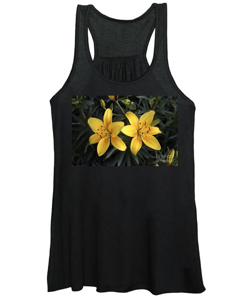 Pair Of Yellow Lilies Women's Tank Top