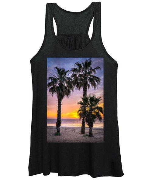 Palm Tree Sunrise. Women's Tank Top