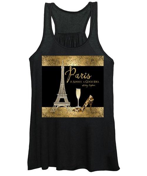 Paris Is Always A Good Idea - Audrey Hepburn Women's Tank Top