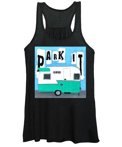 Park It-aqua Women's Tank Top