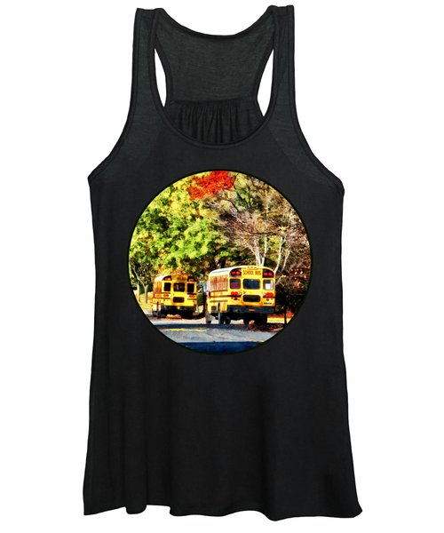 Parked School Buses Women's Tank Top
