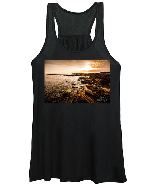 Petal Point Ocean Sunrise Women's Tank Top