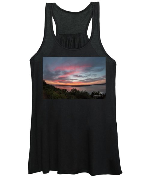 Pink Skies And Clouds At Sunset Over Lake Travis In Austin Texas Women's Tank Top