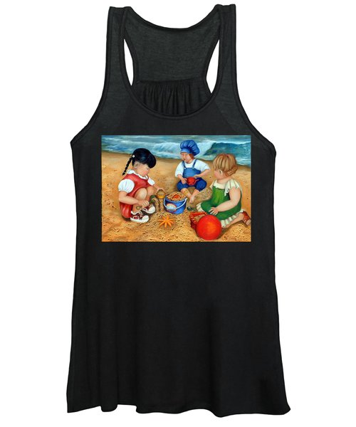 Playtime At The Beach Women's Tank Top