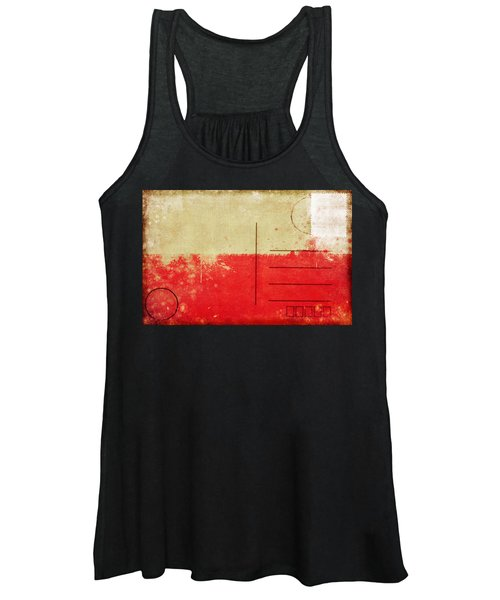 Poland Flag Postcard Women's Tank Top