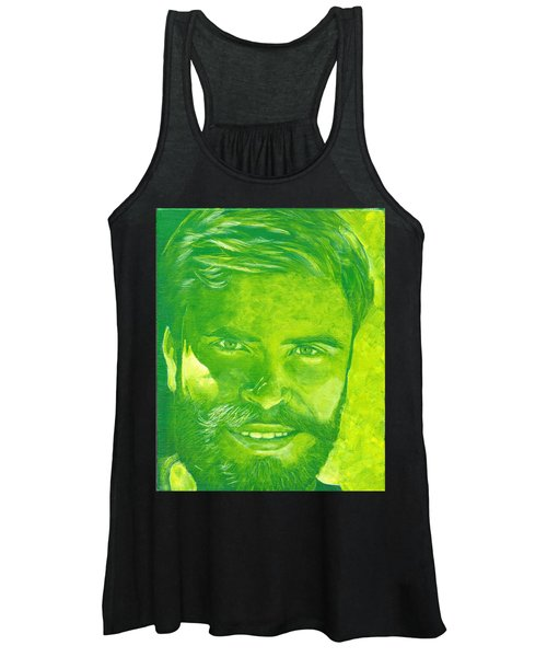 Portrait In Green Women's Tank Top